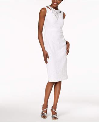 Calvin Klein Layered Lace Sheath Dress