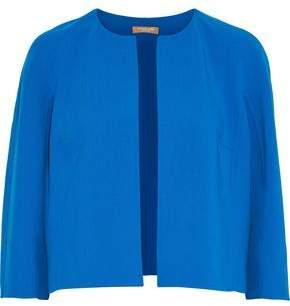 Michael Kors Cropped Stretch-Wool Crepe Jacket