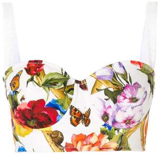 Dolce & Gabbana printed bustier top