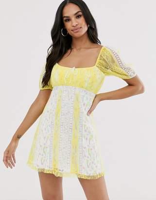 For Love & Lemons Limoncella mini dress