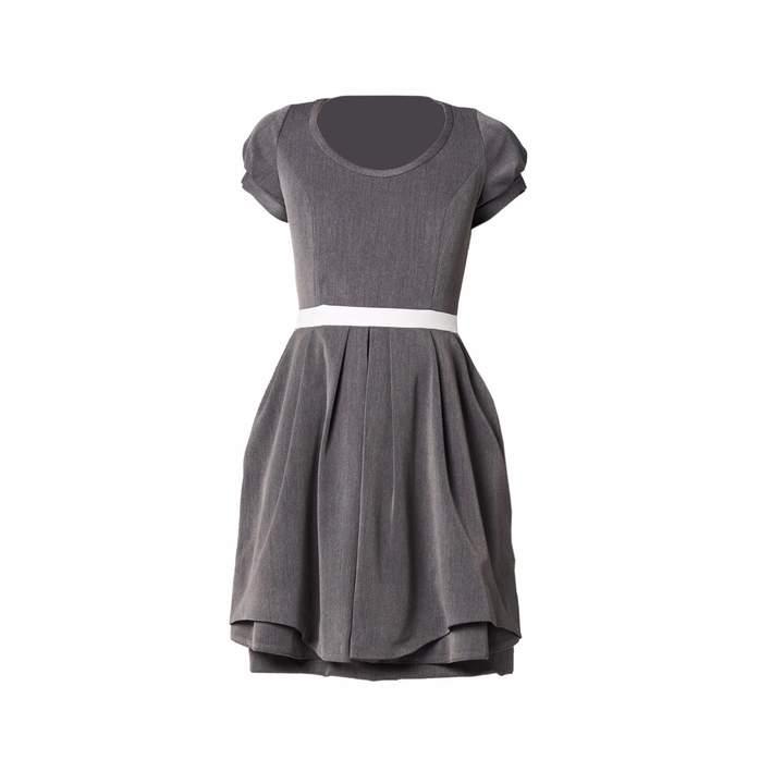 Philosofée - Stretch Gabardine Tailor Dress Grey