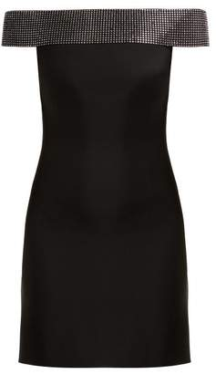 Christopher Kane Crystal Embellished Cady Mini Dress - Womens - Black
