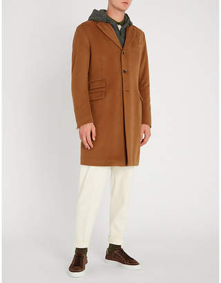 Corneliani Felted wool-blend hooded coat
