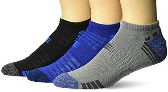 PowerSox Men's Half Cushion No Show Socks with Mositure Control