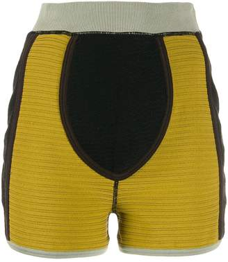 Jean Paul Gaultier Pre-Owned 1990 colour-block fitted shorts