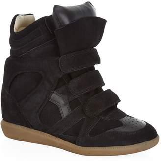 04f9e04594ae Isabel Marant Bekett Suede Wedge Sneaker