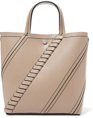 Proenza Schouler Hex Small Paneled Textured-leather Tote - Beige