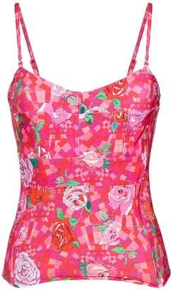AMIR SLAMA floral print bikini top