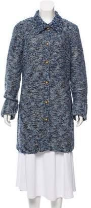 White + Warren Wool-Blend Button-Up Cardigan