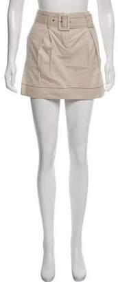 Karen Walker Mini Belt-Accented Skirt