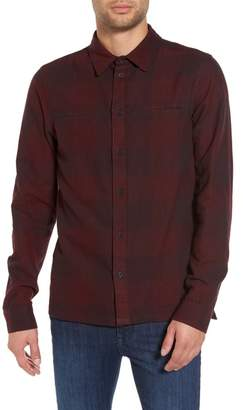 NATIVE YOUTH Chalgrove Buffalo Plaid Flannel Trim Fit Shirt