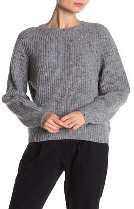 Vince Speckled Knit Wool Blend Crew Neck Sweater