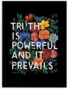 Rifle Paper Co. Truth Quote Wall Art
