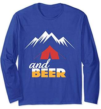 Camping Lovers Gift Long Sleeve Drinking Camping And Beer