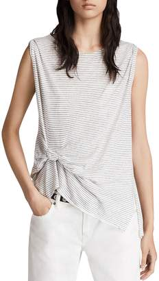 AllSaints Rivi Pintuck Striped Tank