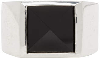 Stolen Girlfriends Club Silver Onyx Pyramid Ring