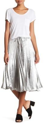 Maac London Pleated Metallic Skirt $120 thestylecure.com