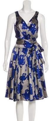 Diane von Furstenberg Silk Sleeveless Printed Midi Dress