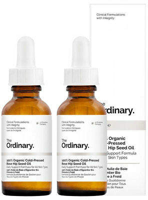 The Ordinary NEW 100% Organic Cold-Pressed Rose Hip Seed Oil [Double Pack] 2 x