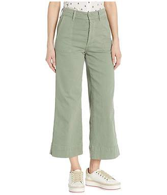 Joe's Jeans High-Rise Trouser Crop in Seagrass