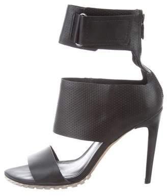 Tibi Leather Cutout Sandals