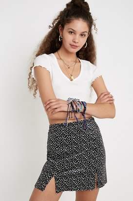 Urban Outfitters Daisy Velvet Mini Skirt