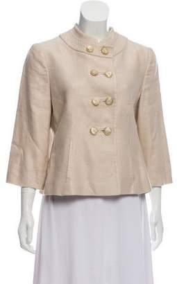 Armani Collezioni Button-Up Linen Jacket