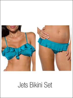 Jets Lustre Frill Bandeau and Ruffle Pant Set