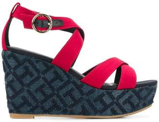 Tommy Hilfiger patterned wedge sandals