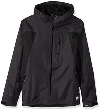 Wrangler Men's Big and Tall Waterproof Zip Front Rain Jacket