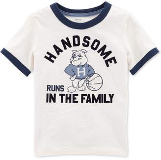 Carter's Toddler Boys Handsome-Print Cotton Ringer T-Shirt
