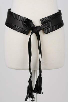 Minx Black Braided Belt