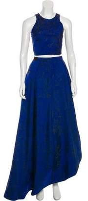 Alice + Olivia Jacquard Maxi Skirt Set