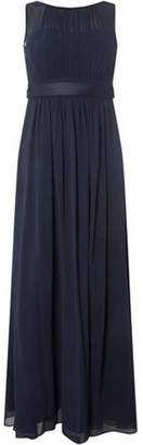Dorothy Perkins Womens **Showcase Petite Navy 'Natalie' Maxi Dress