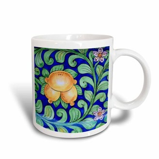 3dRose Italy, Orvieto. Italian pottery plate for sale in the streets., Ceramic Mug, 15-ounce