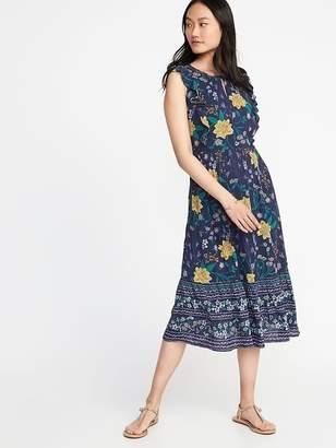 Old Navy Sleeveless Waist-Defined Midi Dress for Women