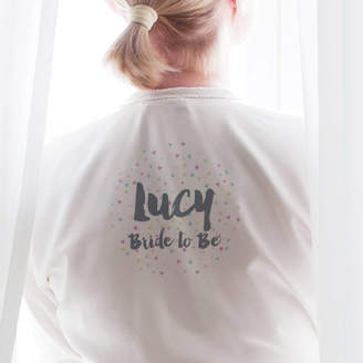 Hurley Sarah Personalised Confetti Bride Robe / Dressing Gown