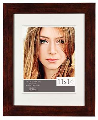 Burnes of Boston 11x14 Picture Frame with Double White Mat Opening for 8x10 Image Flat