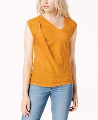 Bar III Twisted Sleeveless T-Shirt, Created for Macy's