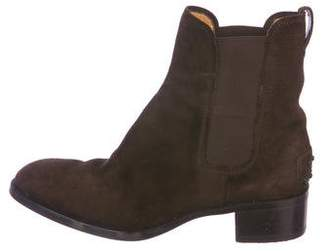 Tod's Suede Round-Toe Ankle Boots