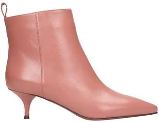 L'Autre Chose Pink Calf Leather Ankle Boots
