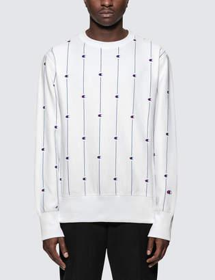Champion Reverse Weave Allover Logo Sweatshirt