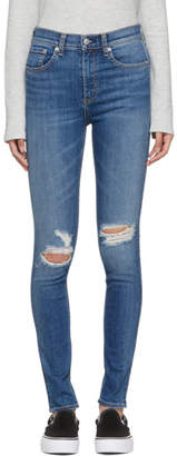Rag & Bone Blue High-Rise Skinny Jeans