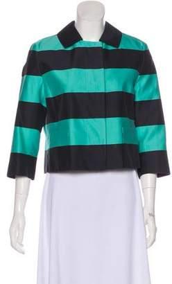Akris Punto Striped Cropped Blazer