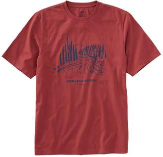 L.L. Bean L.L.Bean Men's Lakewashed Garment-Dyed Cotton Crewneck Graphic Tee, Slightly Fitted Short-Sleeve Endless River