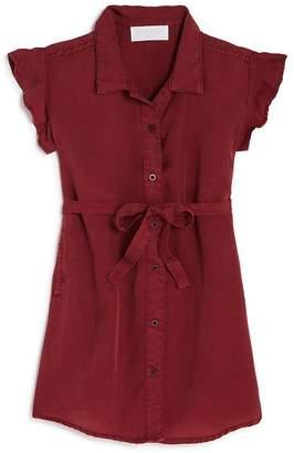 Bella Dahl Girls' Flutter-Sleeve Shirt Dress - Little Kid, Big Kid