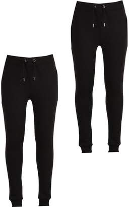 boohoo 2 Pack Jersey Joggers in Super Skinny Fit