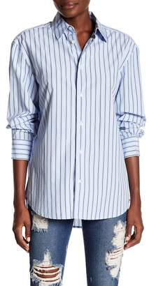 Frame Worn-In Stripe Button Down Shirt