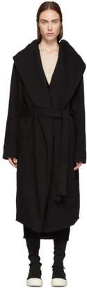 Rick Owens Black Spa Robe Coat