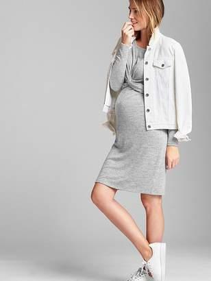 Gap Long Sleeve Twist-Front Sweater Dress